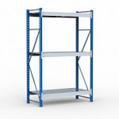 Металлические среднегрузовые стеллажи с нагрузкой на ярус до 500 кг