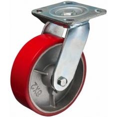 Колеса полиуретановые поворотные, платформенное крепление