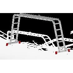 Лестницы алюминиевые трансформер (четырехсекционные)