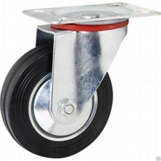 Колеса промышленные поворотные, платформенное крепление