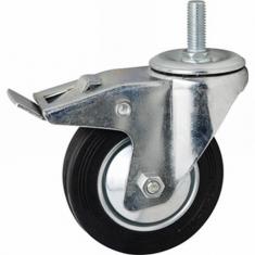 Колеса промышленные поворотные, болтовое крепление с тормозом