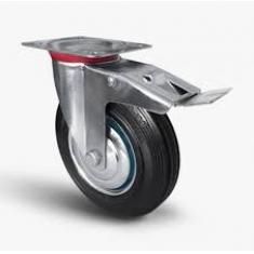 Колеса промышленные поворотные с тормозом, платформенное крепление