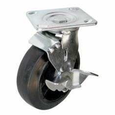 Колеса большегрузные поворотные с тормозом, платформенное крепление