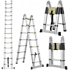 Телескопические лестницы двухсекционные